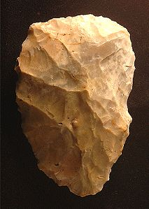 Neanderthal hand axe, 30,000-40,000 years old