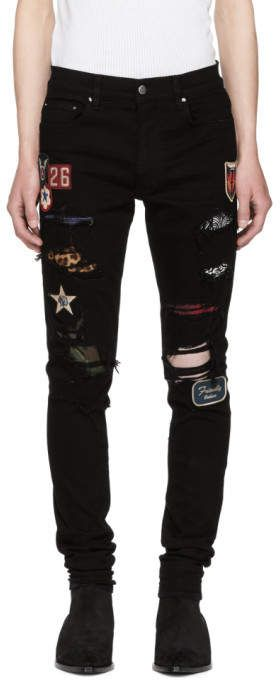f3d6bed13e4 Amiri Black Art Patch Painted Jeans #gucci #mensfashion #menswear #menstyle  #mens #jeans