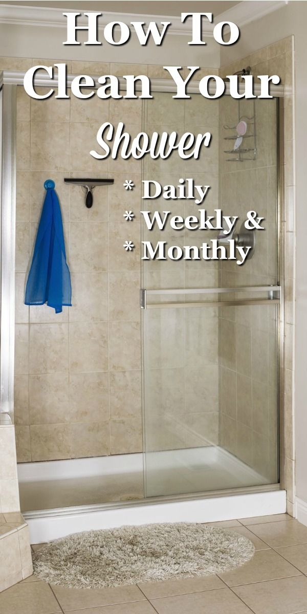 Here are instructions for how to clean your shower, including daily, weekly and monthly tasks to keep it looking its best all the time. #ad