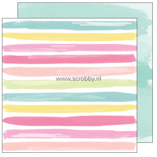 American Crafts Dear Lizzy Happy Place double sided cardstock Beachy Betsy   €0.90