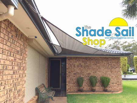 Installing a right angle triangle shade can be done with out buying poles. We have huge range of sizes to fit most areas.