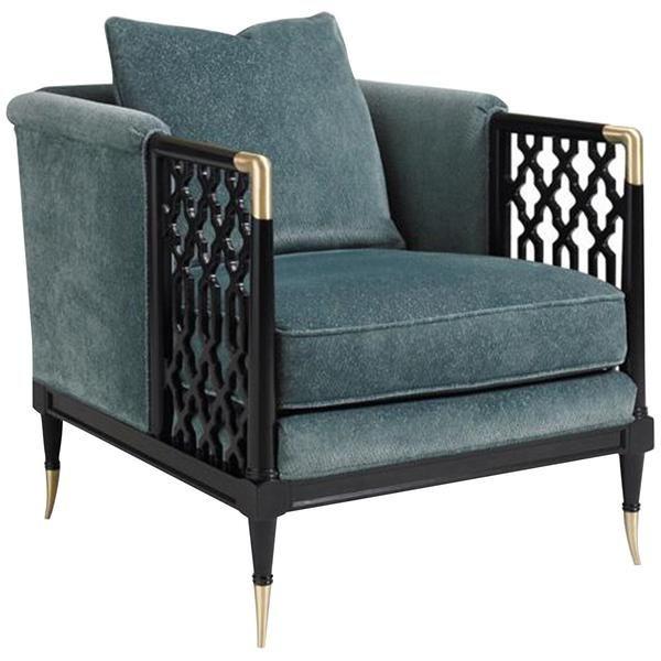 Caracole Tuxedo Black Chair