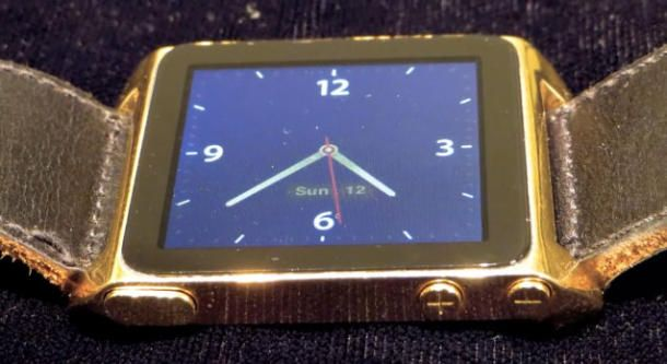 Geek forges homemade solid gold iPod watch