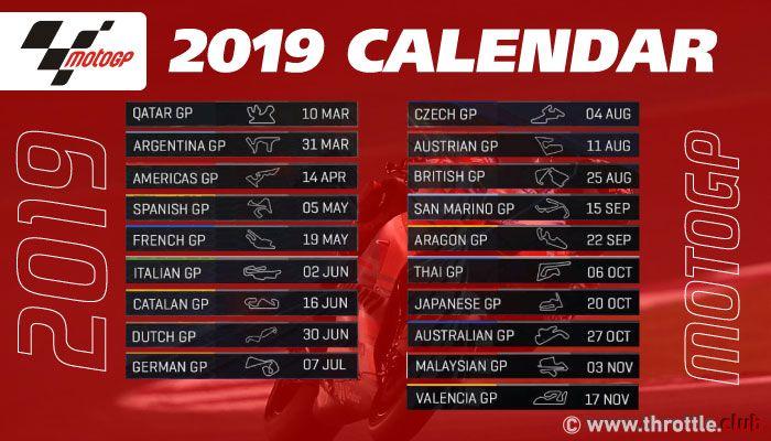 Motogp 2019 Motogp Calendar 8 Races To Go Motogp Grand Prix Motorcycles Yamaha Motogp