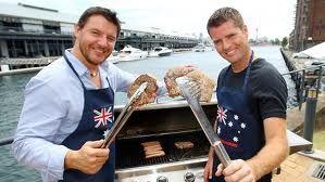 Australia Day BBQ. The big grill.