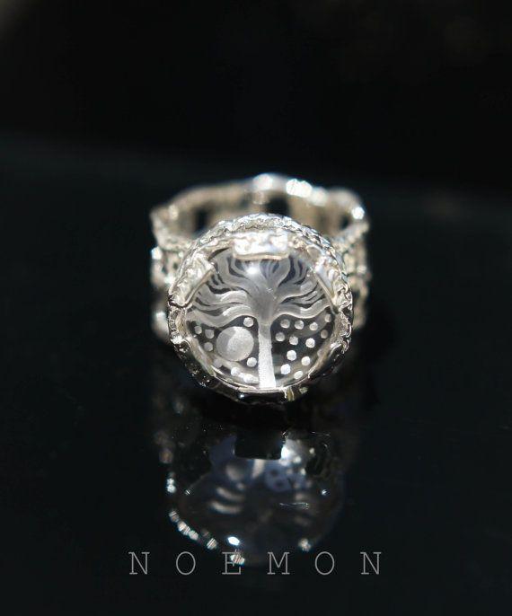 sterling silver ring 925 silver ring rock by NoemonDesignStudio