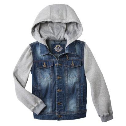 Urban Republic Boys Hooded Jean Jacket Hooded Jean