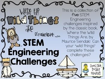 STEM Engineering Challenge Picture Book Pack ~ Where the Wild Things are... $
