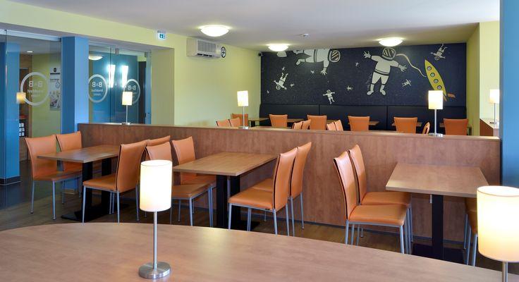 Frühstücksraum des B&B Hotels Oberhausen am Centro
