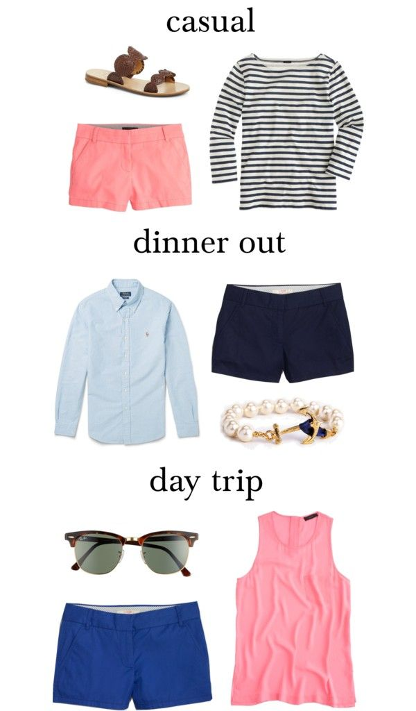 bright shorts and stripes