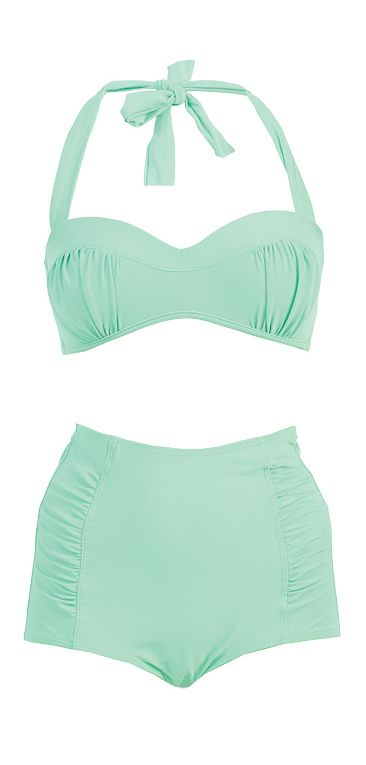 Mint high waisted bikini