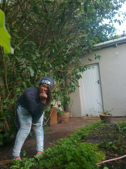 me being bored :)   #fuck #crazy #ceciwolfsoul #jeans #vans #bush #tree #beanie  tongue out like i dont have respect :>