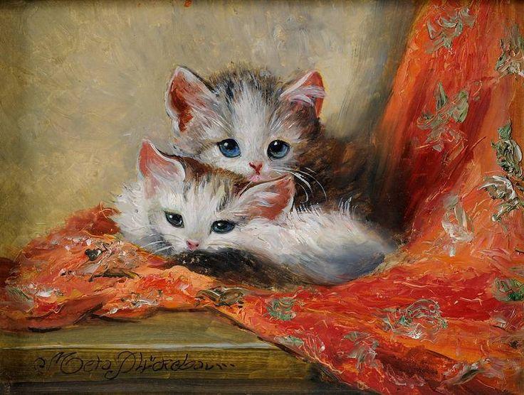 Кошки на картинах современных художников