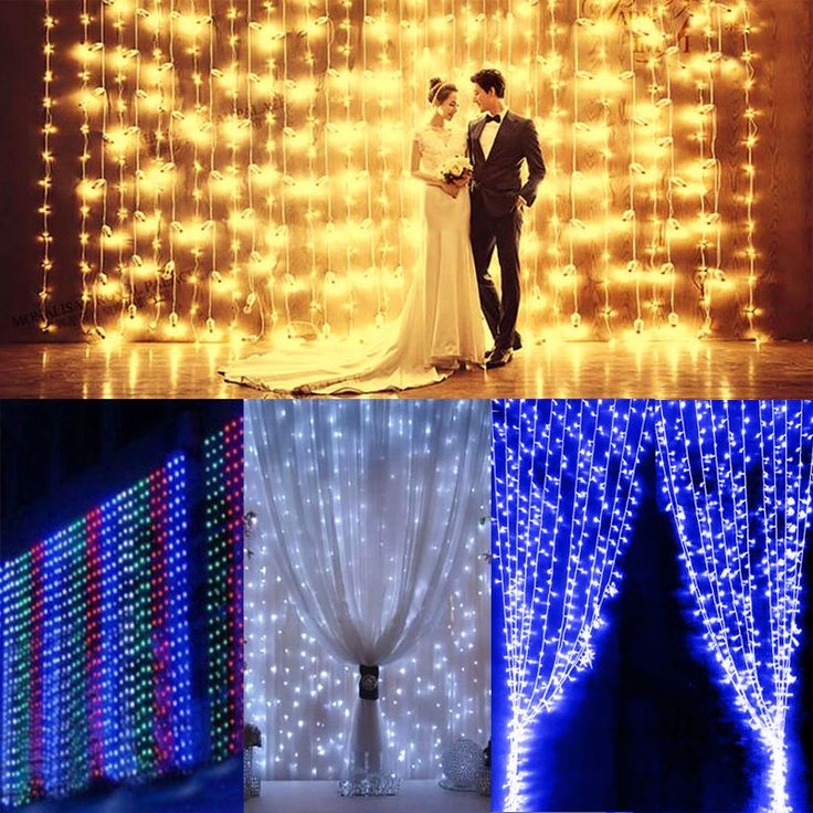 3*3M 300LED Icicle Lights Hanging Curtain Lights Home Garden Wedding Party Decor #Unbranded