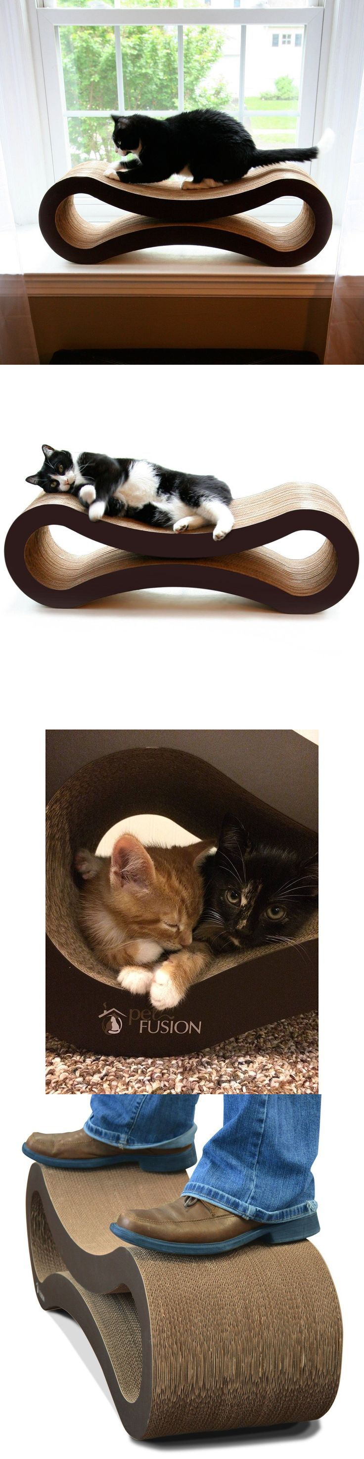 Furniture and Scratchers 20740: Petfusion Ultimate Superior Large Cardboard Cat Scratcher Lounge Shelf Sofa -> BUY IT NOW ONLY: $55 on eBay!