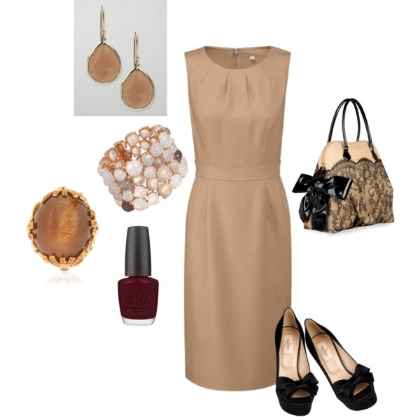 Beige with Valentino and peep toe shoes