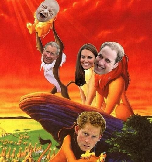 This picture pretty much sums up this whole Royal Baby hysteria
