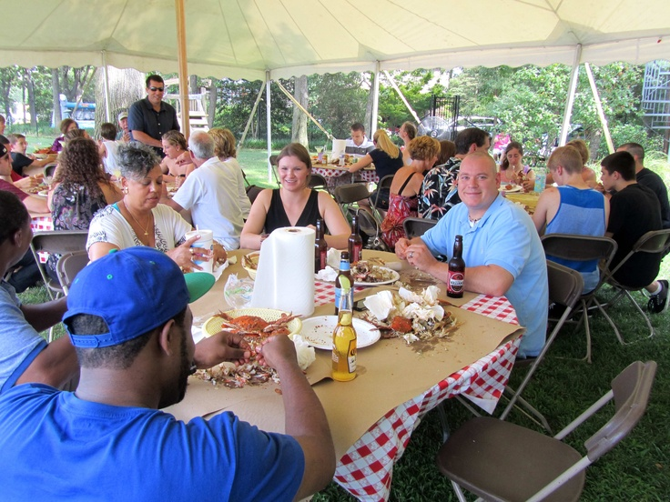 Happy clients at their crab feast!!
