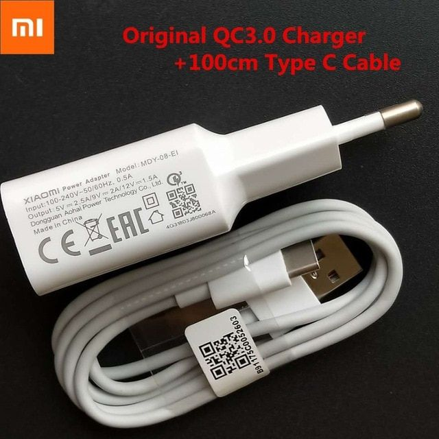 Original Xiaomi Redmi Note 7 Fast Charger Smartphone Usb Adapter 12v1 5a Quick Charge 1m Type C Data Cable For Mi A2 A Smartphone Adapter Usb Led Light Therapy