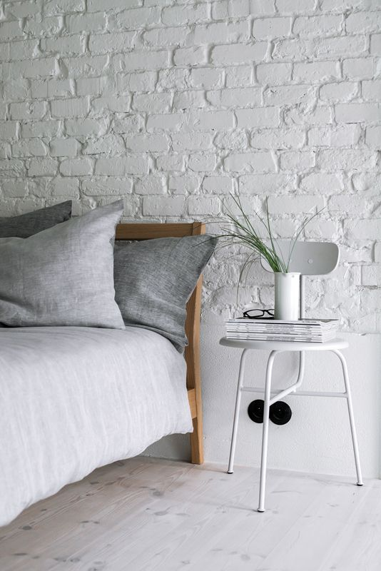 Lniana pościel | SZARA | YELEN / Gray bedding 100% linen work