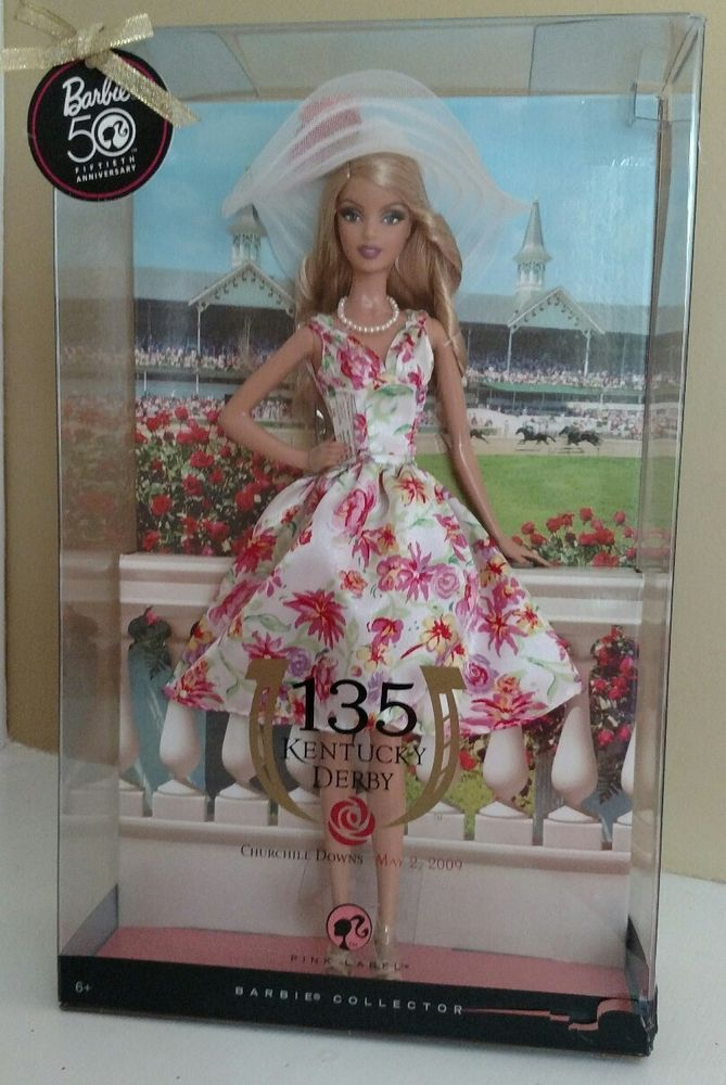 Kentucky Derby Barbie 135th Churchhill Downs 50th Anniversary Rare 2009 Released #Mattel #DollswithClothingAccessories