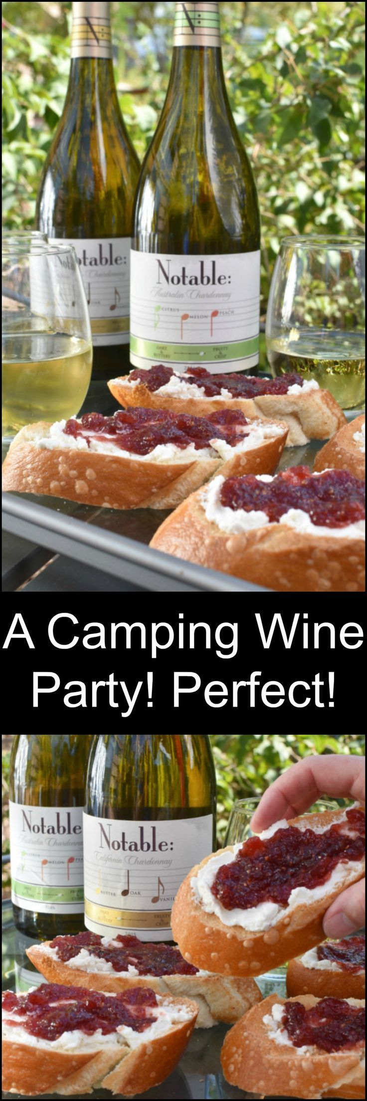 Elevate your camping game and have a wine party! #Chardonnation #NotableSummer Msg 4 21+ ad