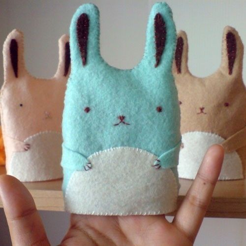 cute bunny egg warmer / hand puppet easter gift by RedMush on Etsy