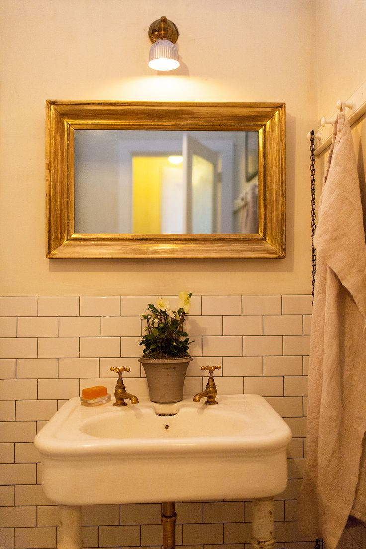 Beautifully Framed Bathroom Mirror. John Derian At Home In New York Via  Theselby.com
