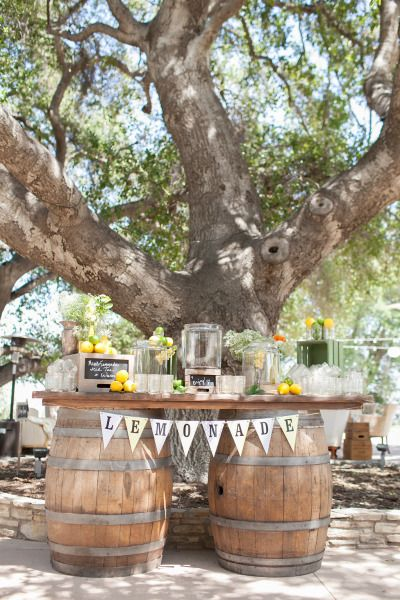 Lemonade stand: http://www.stylemepretty.com/california-weddings/santa-monica/2015/05/17/romantic-diablo-dormido-malibu-wedding/ | Photography: Jennabeth - http://www.jennabeth.com/