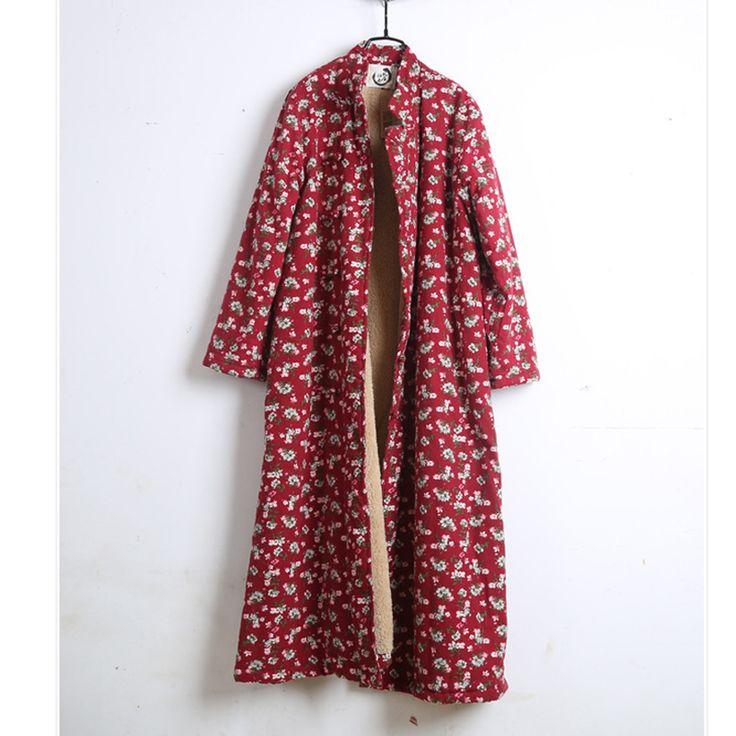 Pas cher 2016 Vente Chaude Vintage Broderie Polka Dot Mince Coton Linge Vers Le Bas Veste. Veste d'hiver Femmes Long et Épais Manteau Plus La Taille, Acheter  Parkas de qualité directement des fournisseurs de Chine:       TAILLE TABLE-------------------------------------------------- ------------------------    taille buste (cm) long