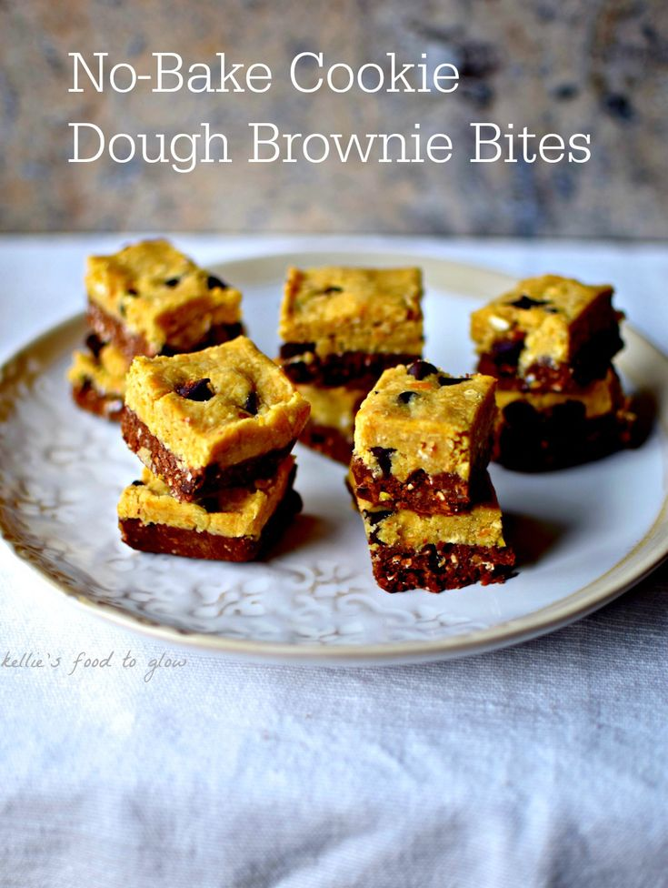 no-bake-cookie-dough-brownie-bites