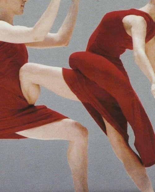 "MERCE CUNNINGHAM DANCE COMPANY, SCENARIO 1997: costumes for ""scenario"" by rei kawakubo."