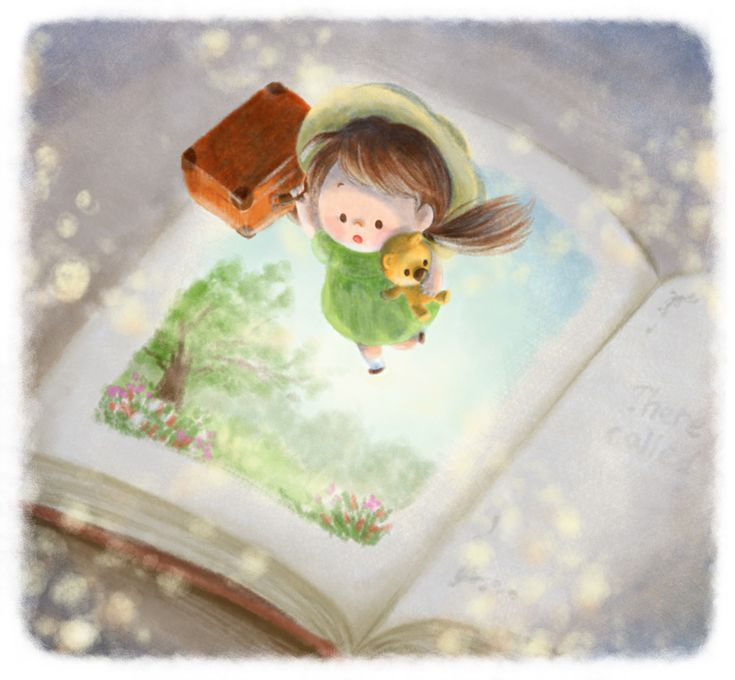 Reading lets you step into an imaginary world through the pages of a book.