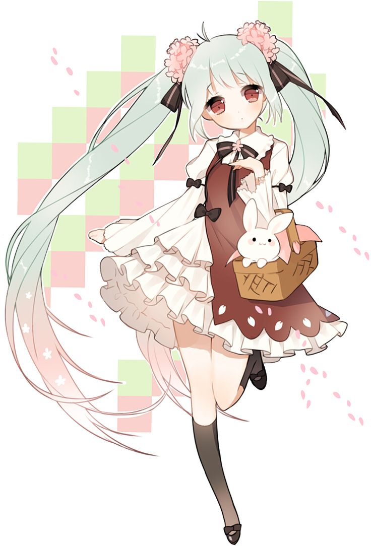 97 best images about anime vocaloid seasons on pinterest - Cute anime miku ...