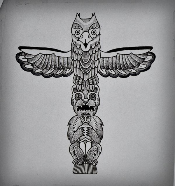 Totem Tattoo by Guilherme Hass, via Behance