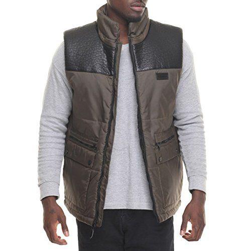 (ショーンジョン) Sean John メンズ トップス タンクトップ faux leather - lined nylon vest 並行輸入品  新品【取り寄せ商品のため、お届けまでに2週間前後かかります。】 カラー:カーキ 素材:Shell: 100% Nylon. Fill: 100% Polyest