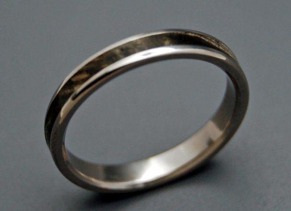 Wooden Wedding Rings titanium wedding ring by MinterandRichterDes