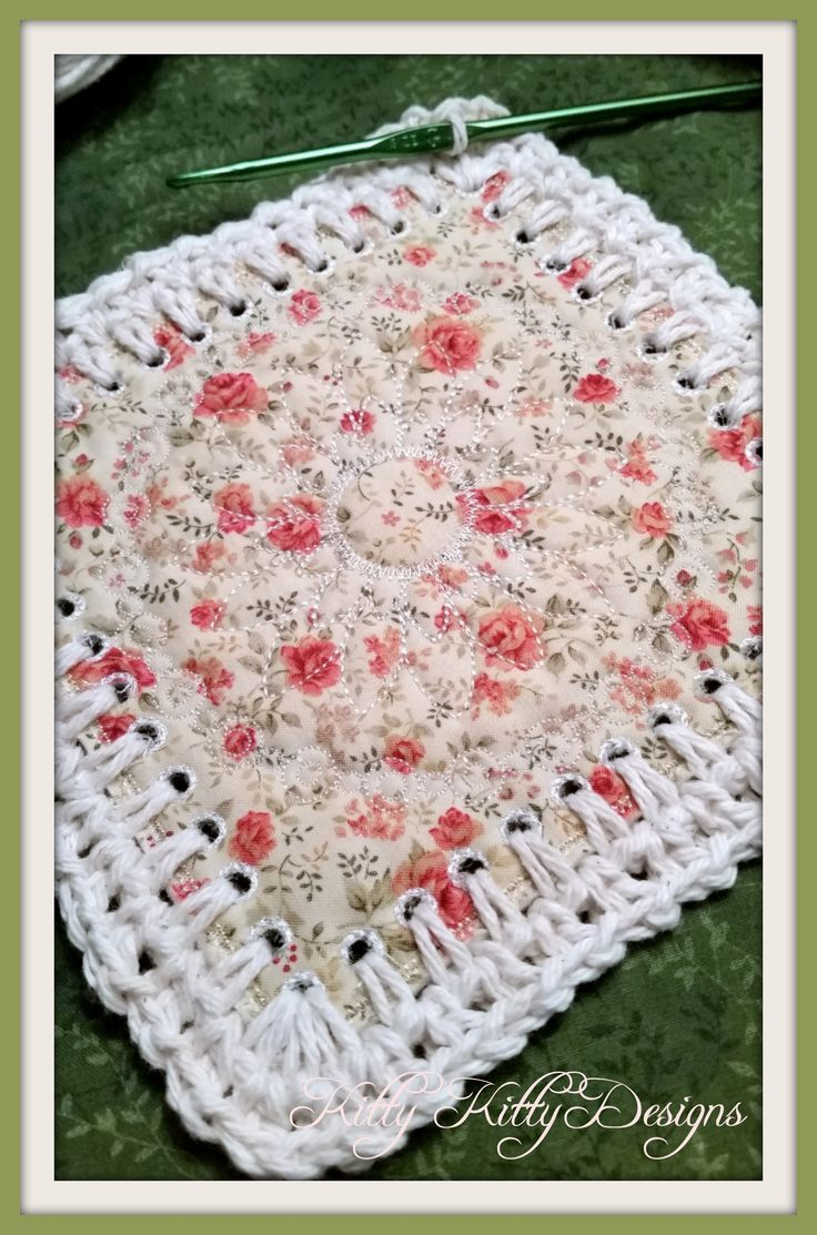 Beautiful Fabric And Crochet Blend To Create A Stunning Quilt That Will  Make Your Heart Smile