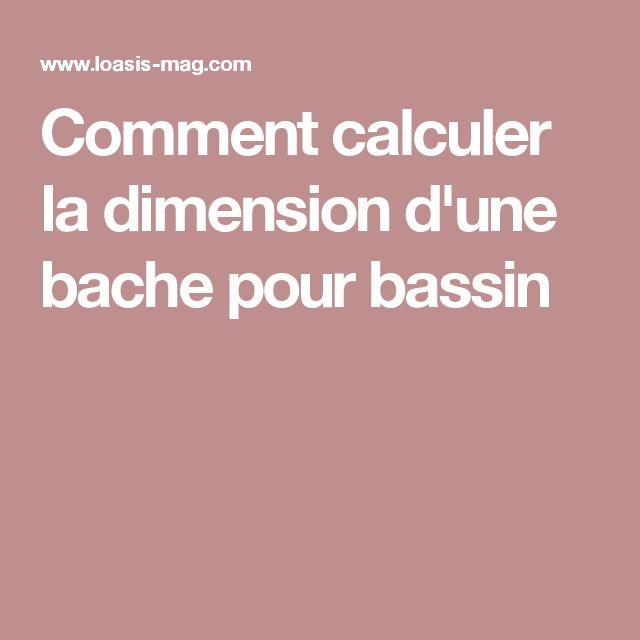 bache bassin calcul