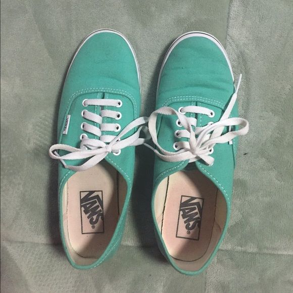 Teal vans Size 8.5 women's teal vans, only worn once! Vans Shoes Sneakers