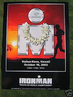 #Ironman 2003 triathlon #hawaii poster - #kailua kona marathon / original in mint,  View more on the LINK: 	http://www.zeppy.io/product/gb/2/171722256776/