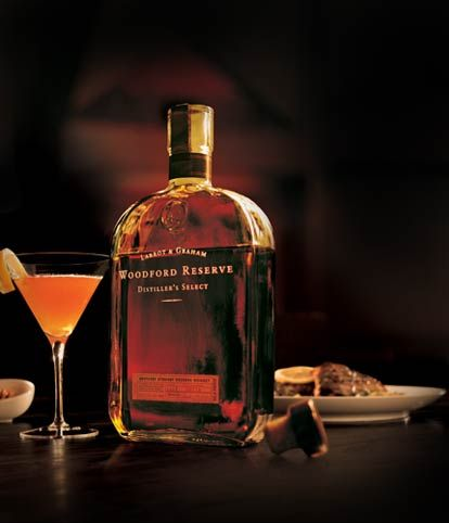 Hand crafted bourbon:  Woodford Reserve. Even if your not a real bourbon fan, this one is like chocolate velvet on your tongue.