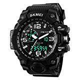 #10: TTLIFE relojes de pulsera de moda hombres Dial grande Digital reloj impermeable Calendario de la fecha reloj negro deportivo Cronómetro tiempo preciso con alarma