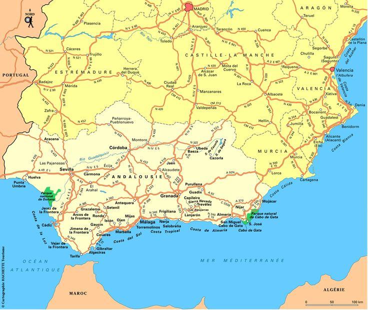Carte Andalousie : Plan Andalousie - Routard.com