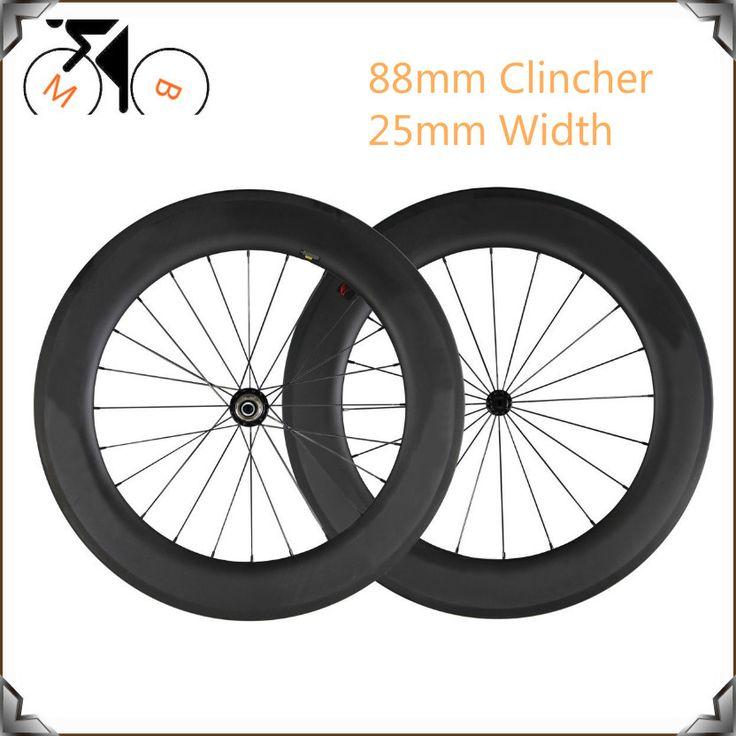 25 мм u-образный widely High Tg довод колесных пар для Дорожного велосипеда Аэро Форму 88 мм углерода довод колесных пар