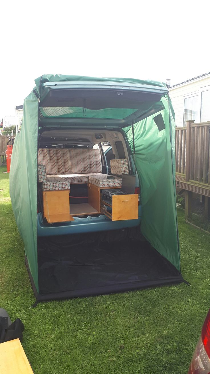 Our Berlingo Micro Camper With Packashack Tailgate Tent