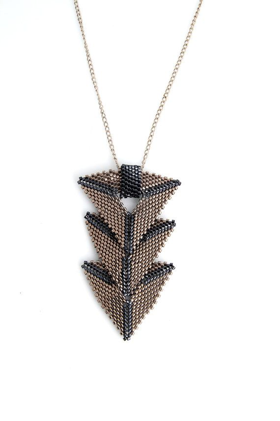Triple Triangle Peyote Necklace