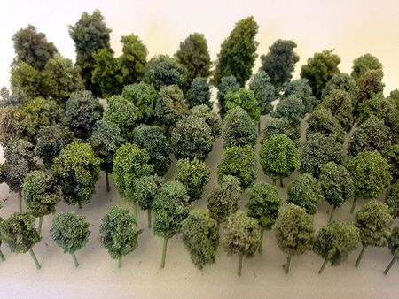Guide how to make stunning foam trees for your architectural model!