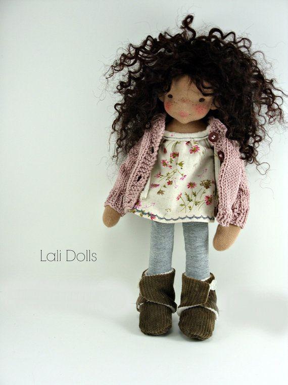 Cloth Waldorf doll freckles pencil by LaliDolls on Etsy