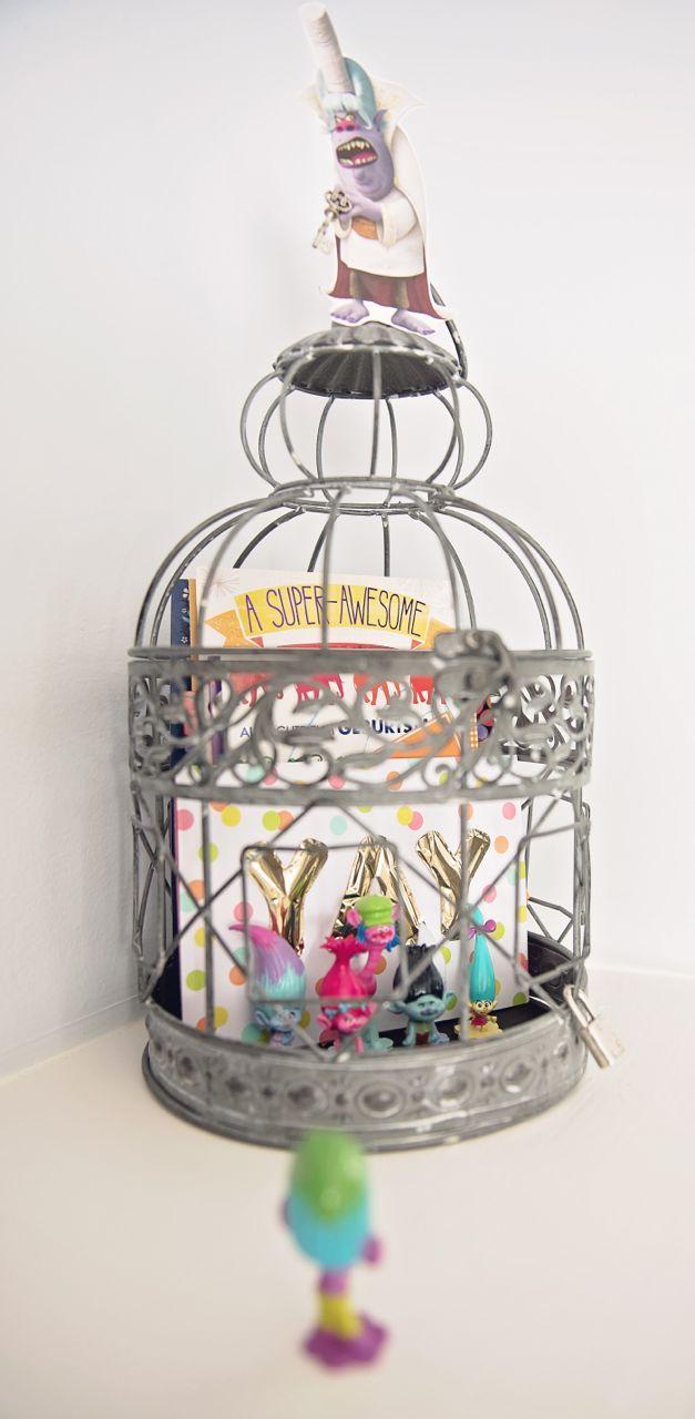 Trolls Cage from a Trolls Inspired Birthday Party #trollscage #trollspartyideas #trollsdecorations